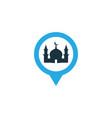 mosque colorful icon symbol premium quality vector image vector image