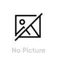 no picture icon editable line vector image vector image