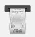 paper sales printed receipt vector image vector image