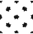 piggy bank pattern seamless black vector image vector image