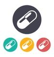 pill icon vector image