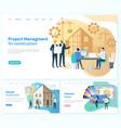 project management construction interior design vector image