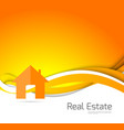 real estate orange brochure vector image vector image