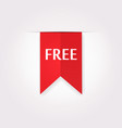 red label icon of free product vector image vector image