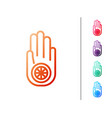 red line symbol jainism or jain dharma icon vector image vector image