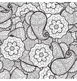 seamless abstract floral pattern fabric vector image vector image