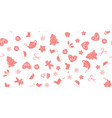 seamless of pink christmas elements vector image vector image