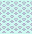 seamless pattern with shiny diamonds vector image