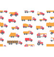 seamless pattern with trucks vector image vector image