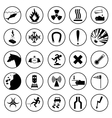 Set of warning and danger signs vector image vector image