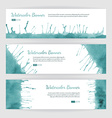 Set of watercolor banners vector image vector image