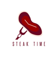 steak time concept restaurant design template vector image