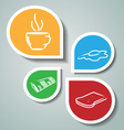 Stickers with morning symbols vector image vector image