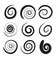 swirling icons vector image vector image
