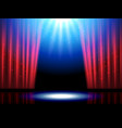 theater scene with lights or theatre stage vector image