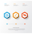 trade icons set collection of contract pen vector image vector image