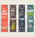 Travel banner set vector image vector image
