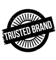 Trusted brand stamp vector image vector image