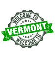 vermont round ribbon seal vector image