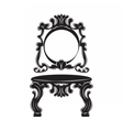 Vintage Baroque Imperial Dressing Table set vector image vector image