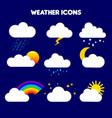 weather rain storm lightning vector image
