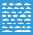white flat simple clouds set vector image