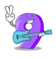 with guitar number nine balloon font shaped vector image