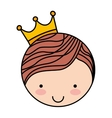 king character isolated icon design vector image