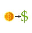 bitcoin currency exchange vector image