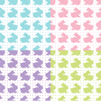 Bunnies Silhouettes vector image