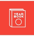 Yearbook line icon vector image