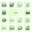 14 bun icons vector image vector image