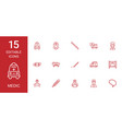 15 medic icons vector image vector image
