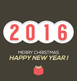 2016 Vintage New Year Card vector image vector image