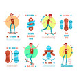 21 june international skateboarding day emblems vector image vector image