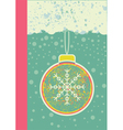 abstract christmas card on snow background with vector image vector image