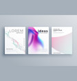 abstract line shape and fluid style covers set in vector image