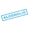 Alcoholic Rubber Stamp vector image vector image