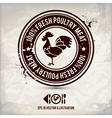 alternative poultry stamp vector image vector image