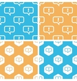 Answer message pattern set colored vector image vector image