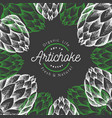 artichoke vegetable design template hand drawn vector image