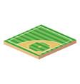 baseball playing field vector image