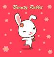 beauty rabbit love shopping handbag and high heel vector image