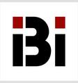 bi ibi bii initials geometric letter company logo vector image vector image