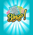 bingo poster vector image