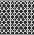 black and white arch mosaic seamless pattern in vector image