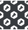Black hexagon pen nib pattern