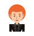 businessman profile cartoon vector image vector image