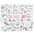 carnival doodle set vector image vector image