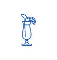 cocktail on the beach line icon concept cocktail vector image vector image